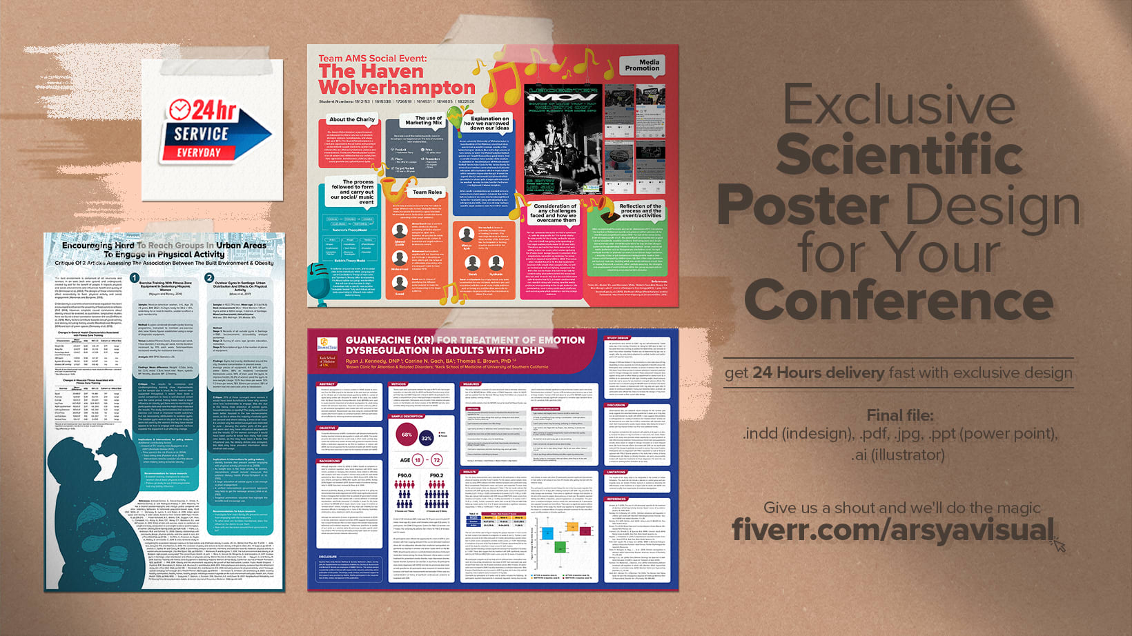 make research academic scientific poster presentation power point for conference