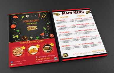 Design beautiful and creative food menu and restaurant flyer by Dipokk