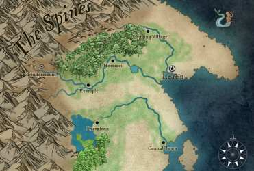 Make a basic fantasy map for your rpg or dnd game by Rogerthatoneal