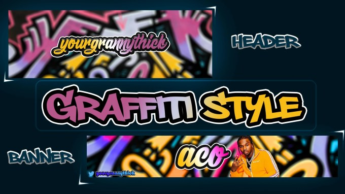 Create A Graffiti Style Banner Or Header For Your Youtube Twitter Facebook Acc By Acogfx Fiverr