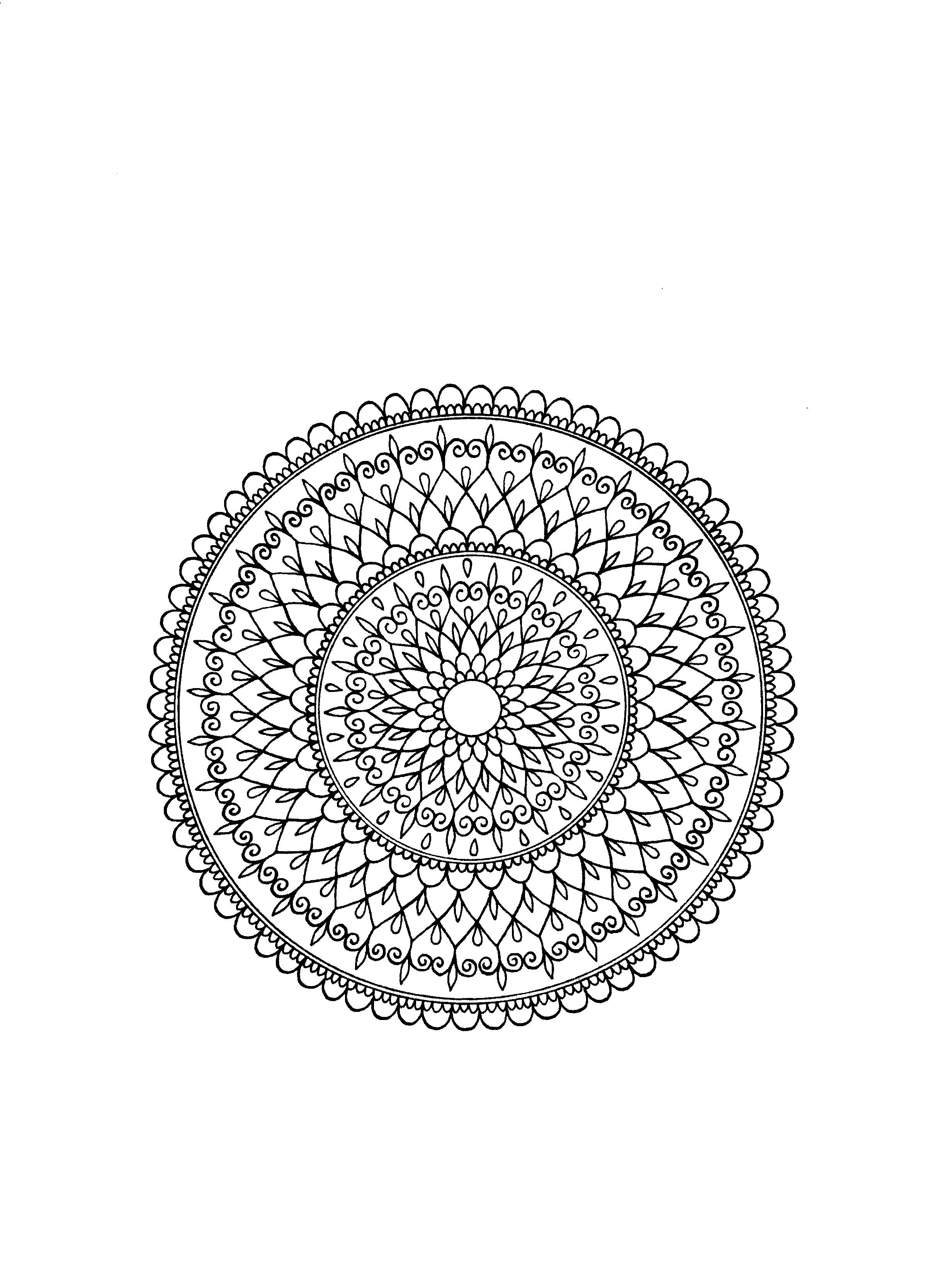Draw A Simple Mandala Design By Zeeart