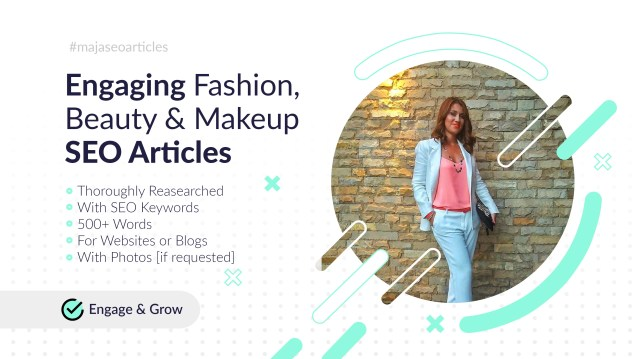 Write an engaging fashion, beauty news, article or blog post by