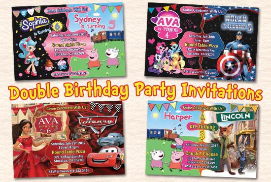 design double birthday party