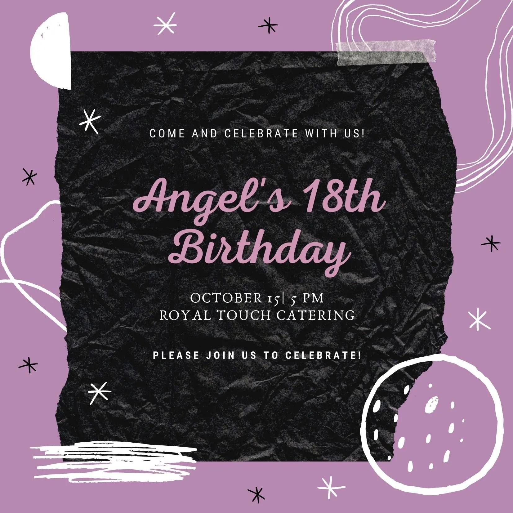 do birthday invitation card by