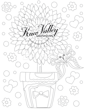 Make black and white coloring book page by Camelia1977