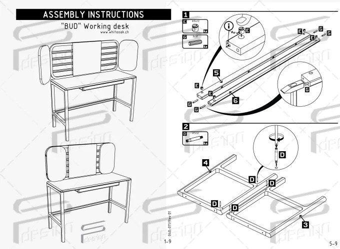 Draw assembly instructions, instruction manual, user