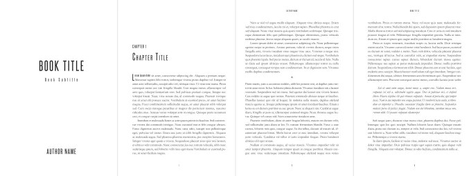 Format your book, giving it an exceptional look by