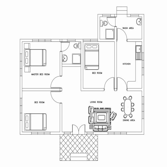 Make auto cad drawings of floor plan, house plan by