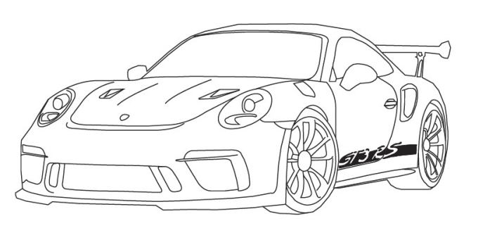 Professional Car Drawing Outline From Any Picture By Beegrit