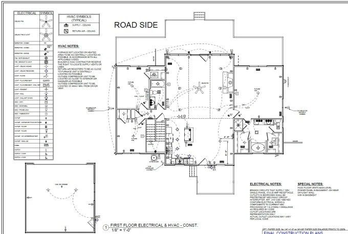 Mep, electrical, mechanical and hvac plan for city