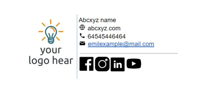 Create professional clickable html email signature by