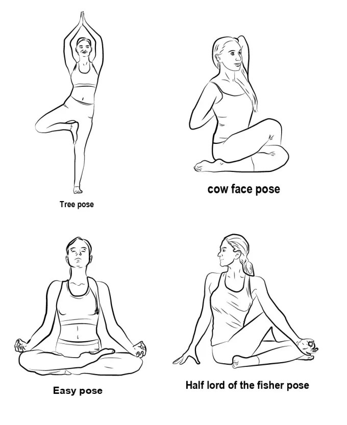 Yoga Drawing Easy : drawing, Yoga,, Fitness, Exercise, Other, Workout, Adedap_pro, Fiverr