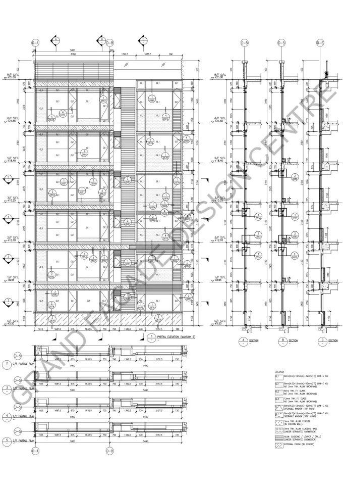 prepare facade curtain wall shop