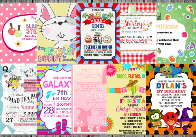 design birthday card or any other invitation card