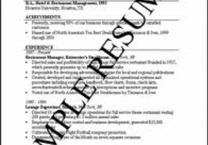 Provide an entry level resume template and interview tips
