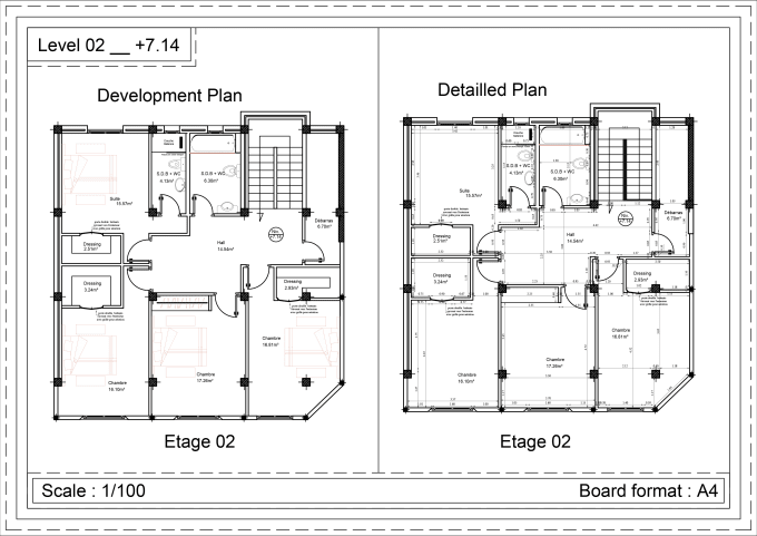 Do autocad floor plan for you, with the level of detail