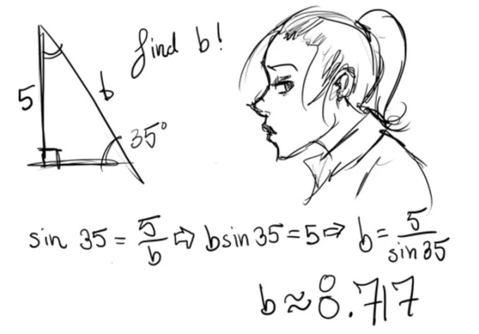 Do a math problem and draw you a cute sketch to alleviate