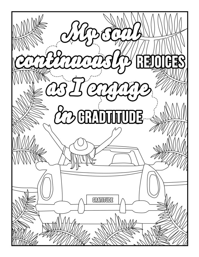 Provide 20 affirmation coloring book printable pages by