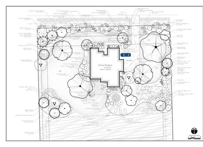 Create 2d drawing, site plan, plat map, landscape design