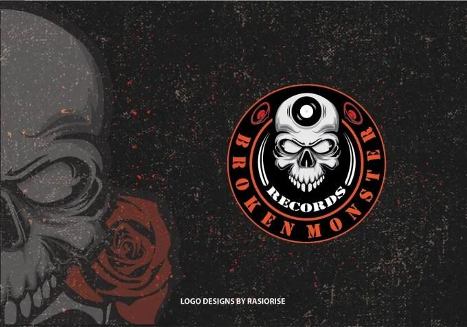 design skull logo mascot