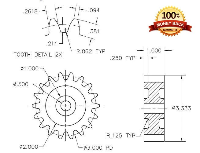 Design 2d or 3d mechanical part drawings by Logodesigner243