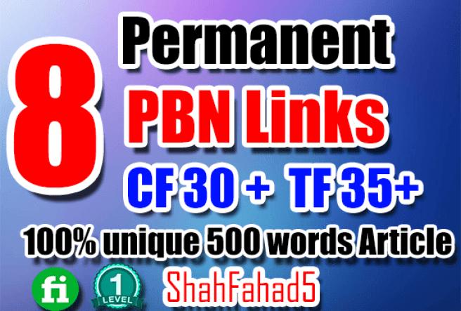 provide super powerful 8 pbn backlinks