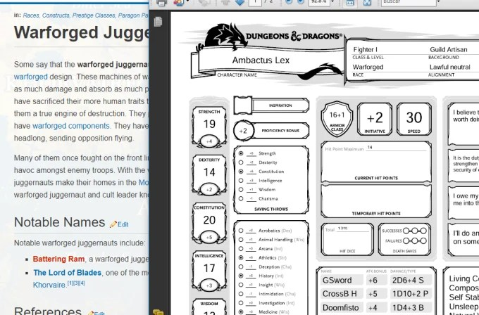 Create dungeons and dragons 5e characters by Bluritefang
