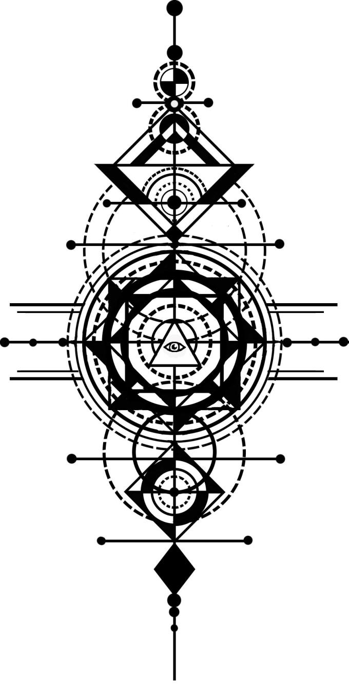 Draw complex geometric patterns by Trashpandacat