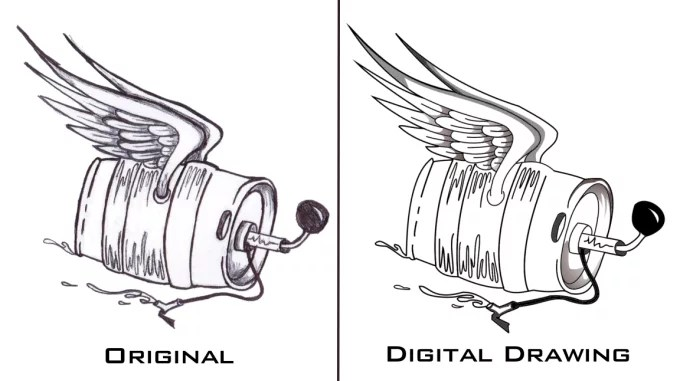 Turn your drawing into a digital copy by Masistores