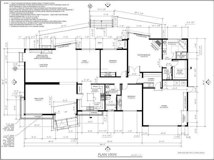 Make your 2d architectural drawings in autocad by Walter_em