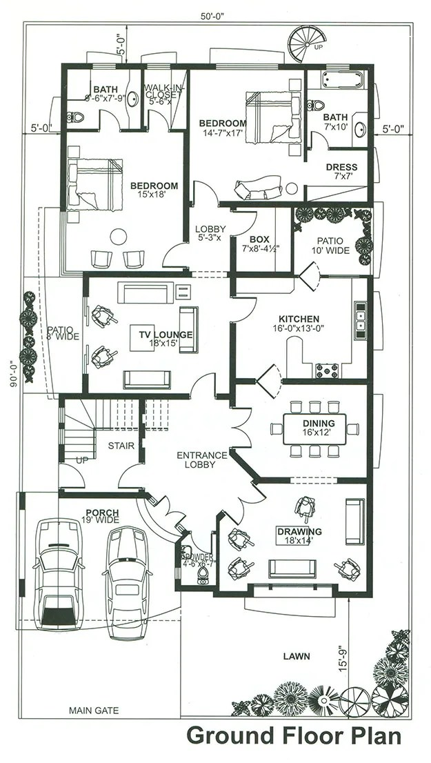 Create 2d architectural drawings by Justsamy