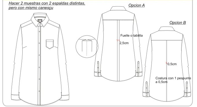 Design a technical sheet for fashion designs by Mariavima