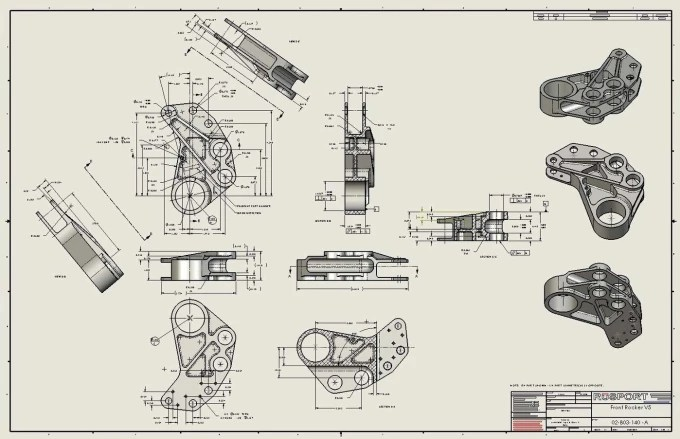 Create engineering drawing from 3d cad model and vise