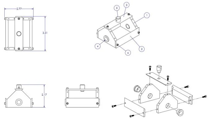 Convert 2d cad drawing into 3d solid models design in