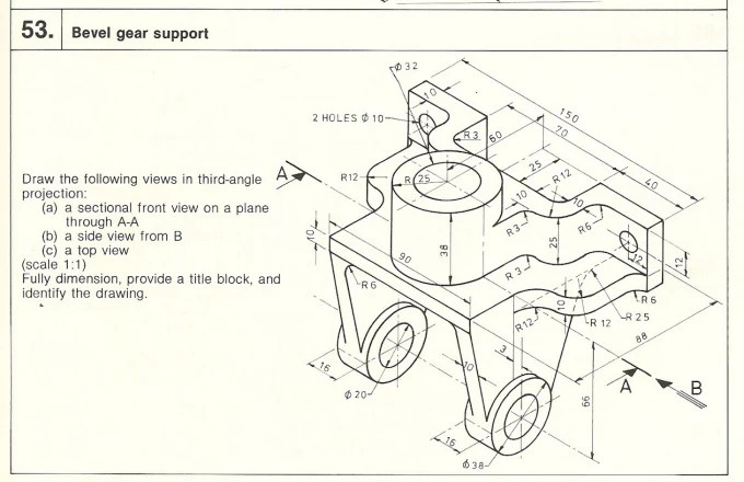 Make mechanical drawingcam ,solid part,pdf,drw,drafting by