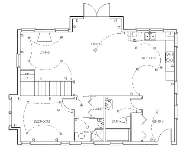Educationstander: Autocad Electrical Floor Plan