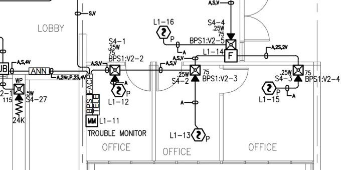 Design fire alarm system with battery calculation by