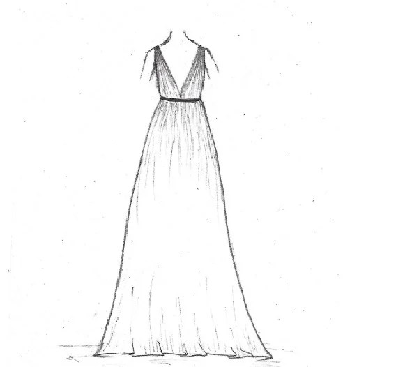 Draw fashion dress sketches by Smilewithmuskan