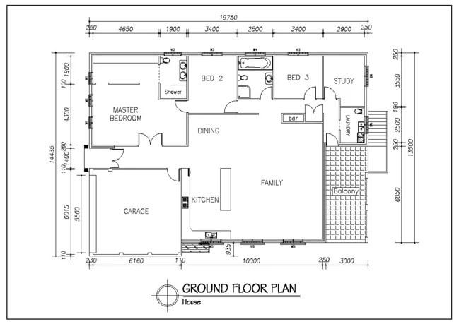 Design autocad 2d floor plan by Kiran_thuyaju