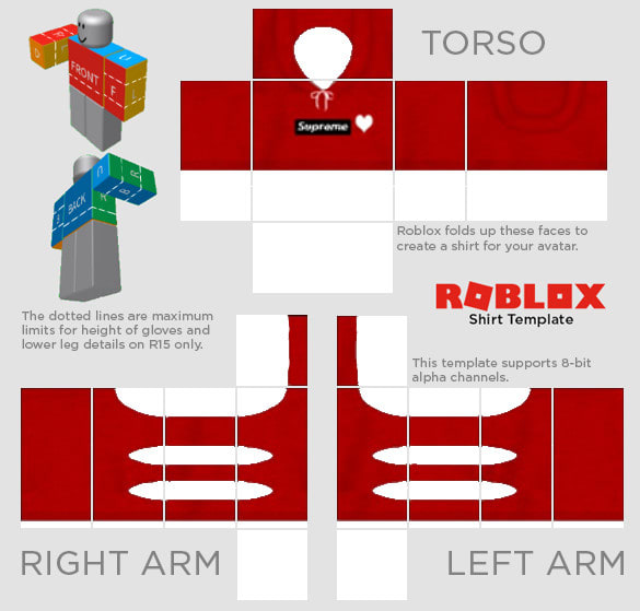 making a roblox shirt