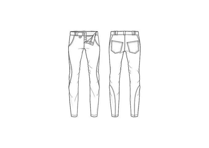 Draw technical drawings of clothes and accessories by Kapustam