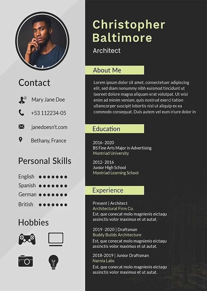 Create professional resumecurriculum vitae cover letter by Tuhinkar