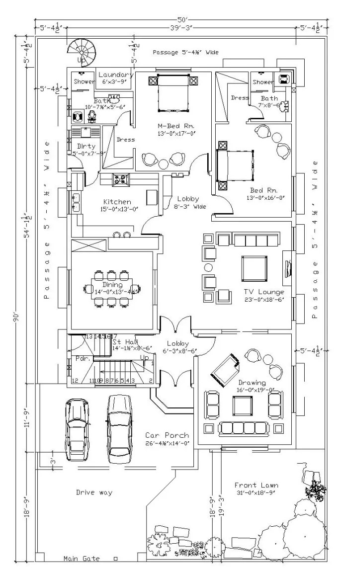 Do floor plan, furniture layout, plumbing layout by Civilcader