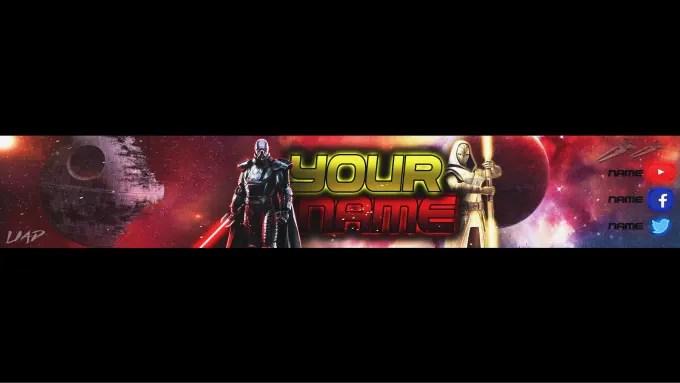 make youtube banner star