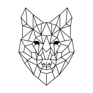 geometric animal simple draw screen