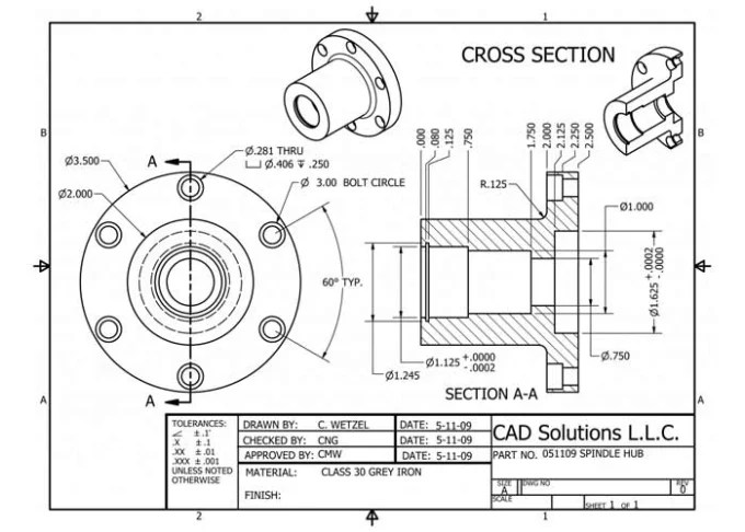 Create autocad mechanical drawings for you by Vishwanathn
