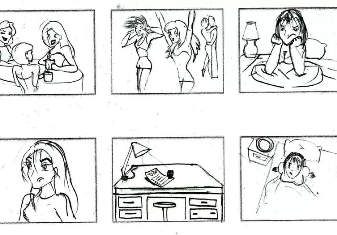 Design you a storyboard for your advertisement, short film