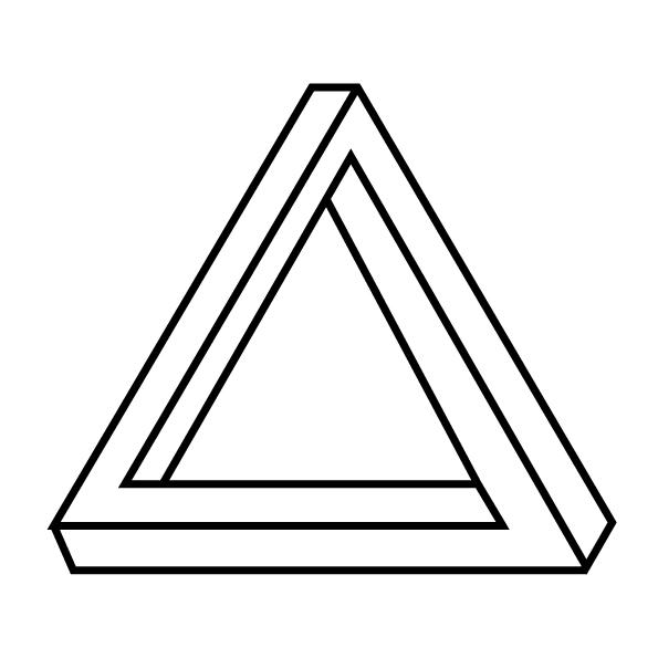 Make an optical illusion drawing by Georgekenwood