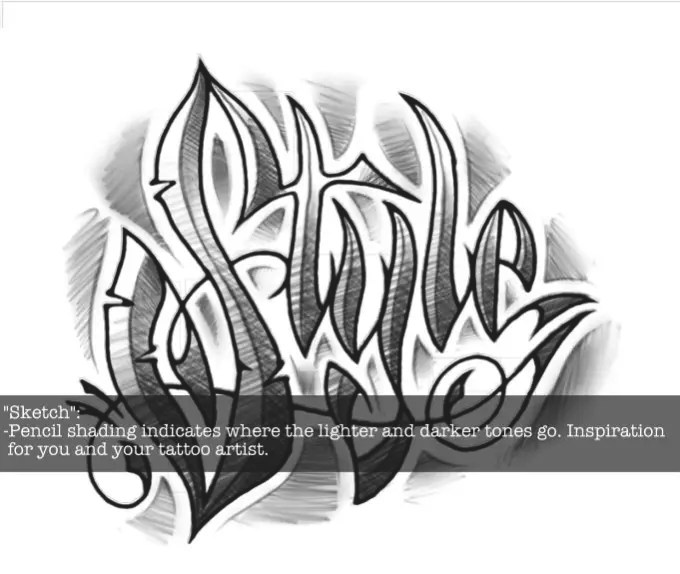 Lettering Tattoo Design Name Style