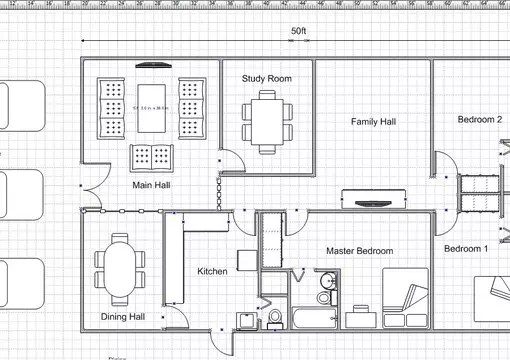 Draw a simple floor plan for your dream house by Azanne1407